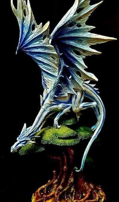 Giant blue dragon